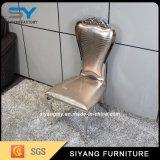 Cadeira do banquete da cadeira do aço inoxidável do ouro da mobília da sala de jantar
