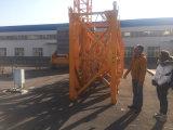 Seção do mastro do guindaste de torre, equipamento para a construção de edifício
