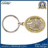 Kundenspezifisches Keychain mit Metallverzierung für förderndes Geschenk