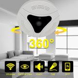 Ângulo de visualização de 360 Protation WiFi CCTV Fisheye P2P Câmara Vr IP Panorâmica