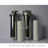 5 Mícron em aço inoxidável de 10 polegadas do alojamento do filtro de cartucho único para a Purificação de Água Industrial
