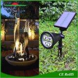 O LED de energia solar Luz interna direcionável jardim exterior Spotlights impermeável da Lâmpada