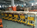 Table élévatrice mobile de ciseaux de main de plate-forme hydraulique 350kg