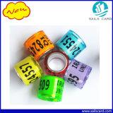 Fabrik-Preis-Taube-Ring mit Laser-Zahl für Tierkennzeichen