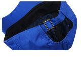 Chapeau bleu/noir de sport de casquette de baseball de polyester