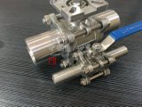 Aço inoxidável atuador pneumático União de rosca 3PC a Válvula de Esfera
