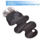 El cabello humano brasileño 2,5*4 Cierre de encaje