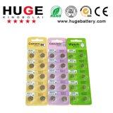 De alkalische Batterij AG1/AG2/AG3/AG4/AG5/AG6/AG7/AG8/AG9/AG10/AG13 van de Cel van de Knoop