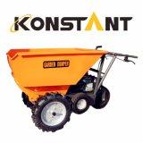 Descargador del jardín de la carretilla de la potencia de tres ruedas con el cargamento 250kg