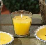 Frasco de vidrio vela de naranja