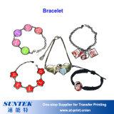 Großhandelssublimation-Manschettenknopf-Halsketten-Armband-Süßigkeit schachtelt andere Metallschmucksachen