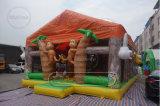 子供の屋根が付いている屋外の膨脹可能な楽しみ都市遊園地