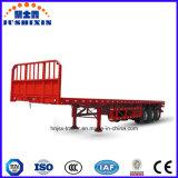 Eje 3 Trailer para el transporte de contenedores de superficie plana