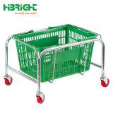 プラスチック買物かごのためのスーパーマーケットの金属のホールダー
