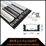 profilo di alluminio di figura di larghezza U di 17mm per la visualizzazione di LED