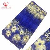Tessuto in rilievo del merletto di Tulle dei vestiti del tessuto di qualità superiore del merletto