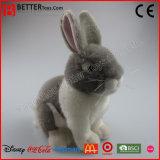 Jouet bourré réaliste de peluche d'ASTM de lapin mou réaliste de lapin