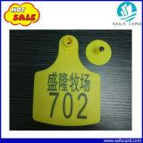 Tag de orelha da vaca do gado de 104X74mm com cópia personalizada