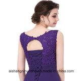Пурпур соткет мантии шифонового вечера официально Wedding платье венчания мантий