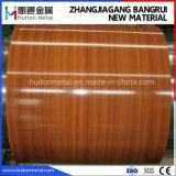 El grano de madera recubierto de PVC de bobinas de acero laminado PVC chapa de acero