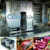 Congelador espiral para la transformación de los alimentos congelados