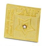 Formato de bandeira banhado a ouro e os pinos de lapela do logotipo da moda
