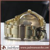 Luxuxgold Rose überwacht Quarz-Armbanduhr-Armband-Form-Uhr-beiläufige Uhr