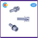 DIN/ANSI/BS/JIS Stainless-Steel Carbon-Steel/combinaison vis tête de coupe à tête hexagonale avec tampon combinaison