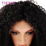 Peluca brasileña al por mayor del frente del cordón del pelo humano del precio el 100% con la peluca rizada malasia de alta densidad