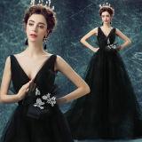Платья специального случая вечера оптового --Плеча платья Mermaid сексуальные черные