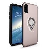 Случай телефона фабрики комбинированный PC+TPU с кольцом на iPhone x