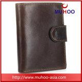 Ретро Geniune кожаный кошелек держатель карточки карман для мелочи мужчин Wallet