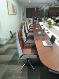 Moderne Houten Stoel voor de Zaal van de Vergadering met het Leder Eindigen