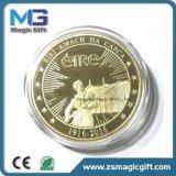 ギフト用の箱が付いている昇進の記念品の金の金属の硬貨