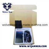 8 inhibidores de mano de la antena de UHF y VHF WiFi 3G 4glte 4gwimax señal telefónica Jammer