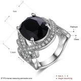 De witgoud Geplateerde Fijne Juwelen van de Ring van de Vrouwen van de Diamanten bruiloft