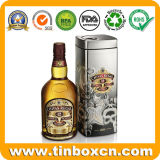 Grande barattolo di latta quadrato alto del metallo del vino per whisky irlandese