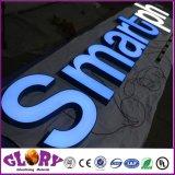 Sinal acrílico iluminado da letra do diodo emissor de luz para o anúncio ao ar livre