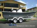 Bateaux de pêche de bateau de Panga de pêche de fibre de verre de Liya 19FT avec le moteur
