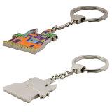Qualitäts-Zink-Legierungs-kundenspezifisches unbelegtes silbernes Metall Keychain