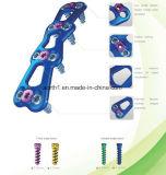Système implantable de plaque de système cervical antérieur titanique chirurgical de plaque