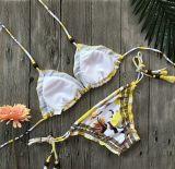 Entfernbare Auffüllenpolyamid Elasthan Badeanzug-Badebekleidungs-reizvoller Bikini