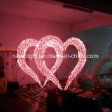 Lumières de Noël de cairns de motifs de coeur de décoration de mariage interdites