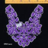 Applique шнурка ворота пурпура 24*25cm, ворот шнурка, Applique шнурка цветка с картиной Hme913 прокладки