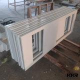 Dessus extérieur solide de vanité de salle de bains de projet d'hôtel de matériau de construction