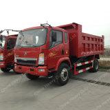 가벼운 덤프 트럭 EUR2 Sinotruk 4X2 팁 주는 사람 황색