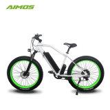 20 polegadas 750W pneu com matéria gorda amarela e aluguer de bicicletas eléctricas