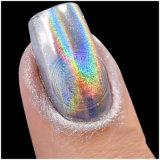 Polvo del cromo del espejo de Holo del camaleón de la plata del pigmento de la perla del efecto del arco iris