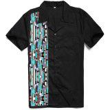 Novo Design Padrão de camuflagem impresso emendando os homens camisas