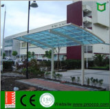 Estrutura de alumínio de fácil instalação BRICOLAGE telheiro com tecto curvo